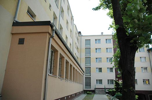 budynek hostelu na ulicy Klimczoka w Katowicach